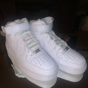 Nike Air Force 1 Mid '07 Size 9 All White